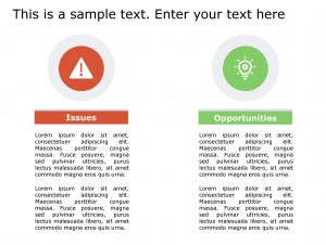 Issues Opportunities PowerPoint Template 138