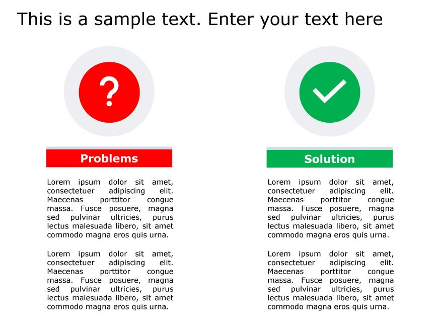 Problem Solution PowerPoint Template 139
