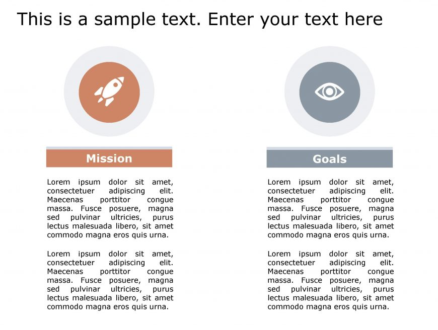Mission Goals PowerPoint Template 140