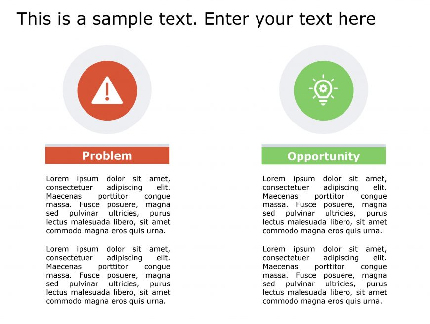 Problem Opportunity PowerPoint Template 142