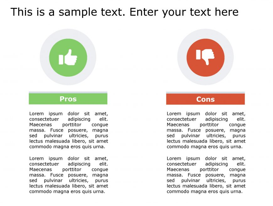Pros Cons PowerPoint Template 145