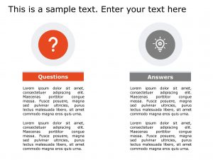 Question Answer PowerPoint Template 146