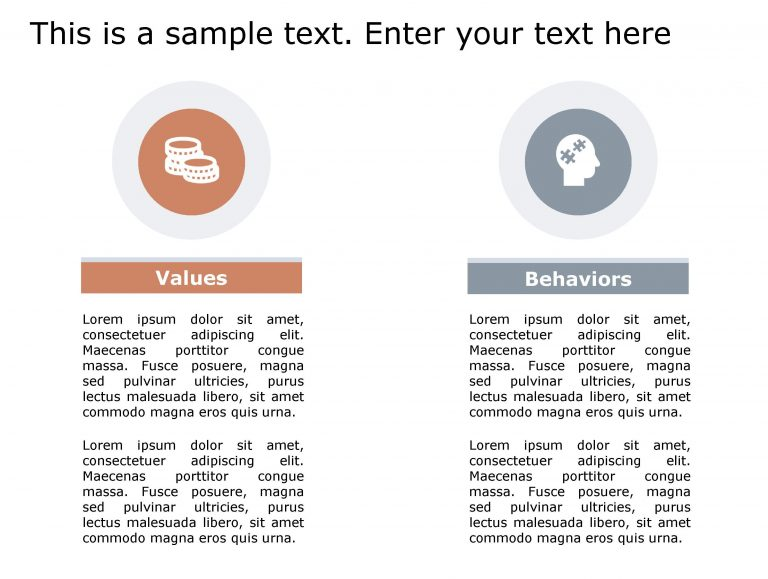 Values Behavior PowerPoint Template 148