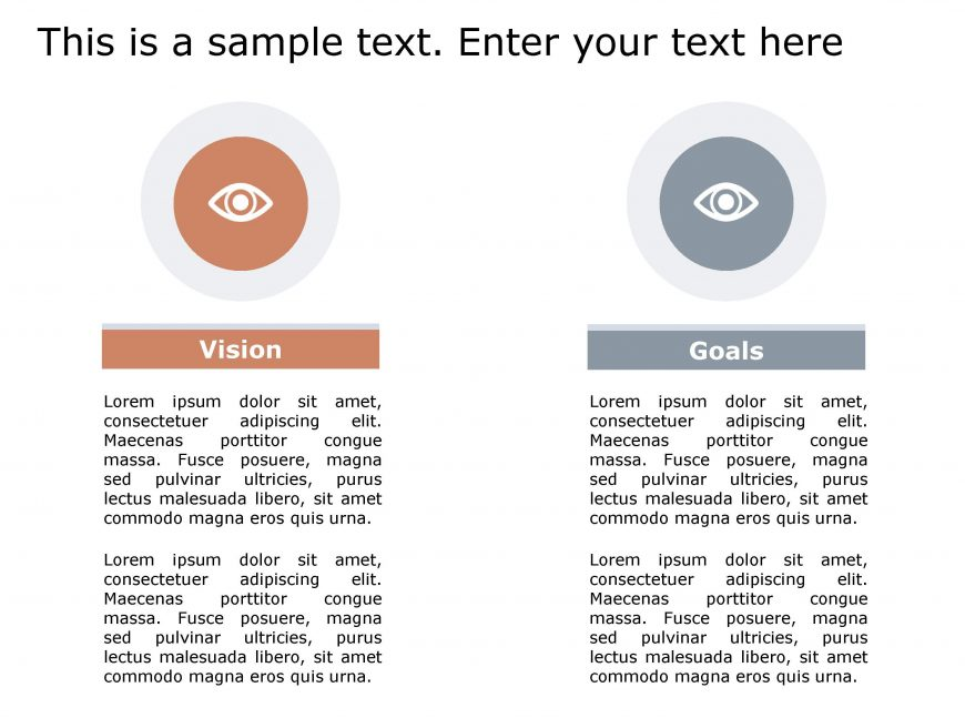 Vision Goals PowerPoint Template 149