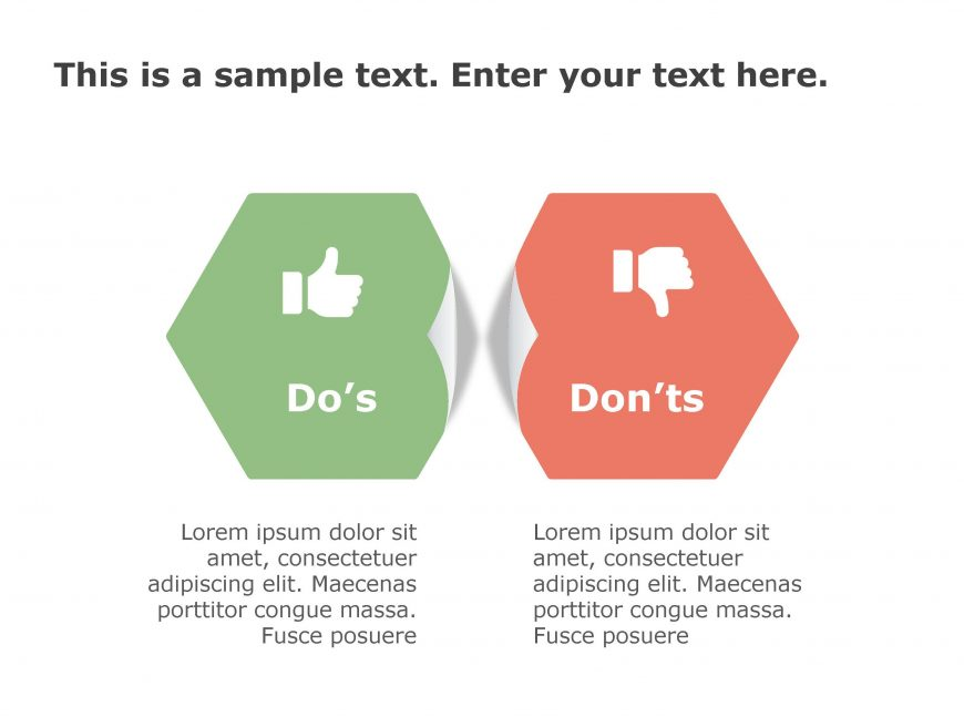 Dos Don'ts PowerPoint Template 156