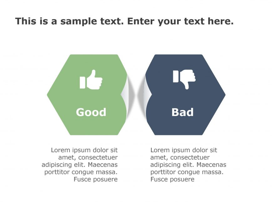 Good Bad PowerPoint Template 158