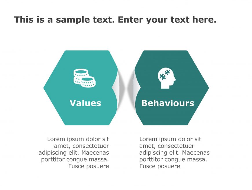 Values Behavior PowerPoint Template 173