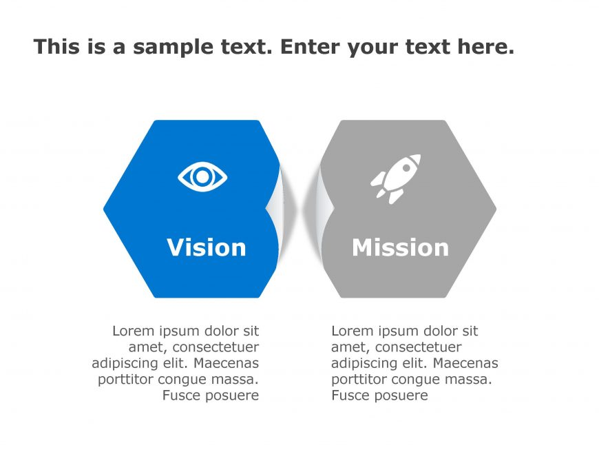 Vision Mission PowerPoint Template 175