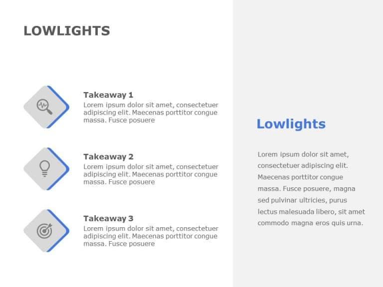 Lowlights Takeaways