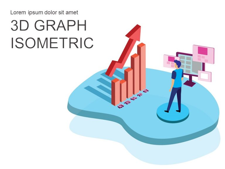Financial Charts and Graphs Isometric