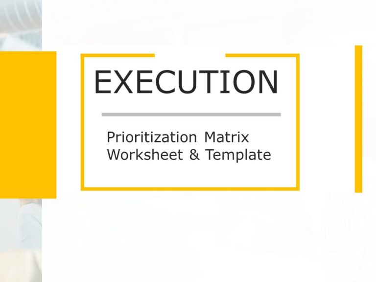 Prioritization Matrix Worksheet Template