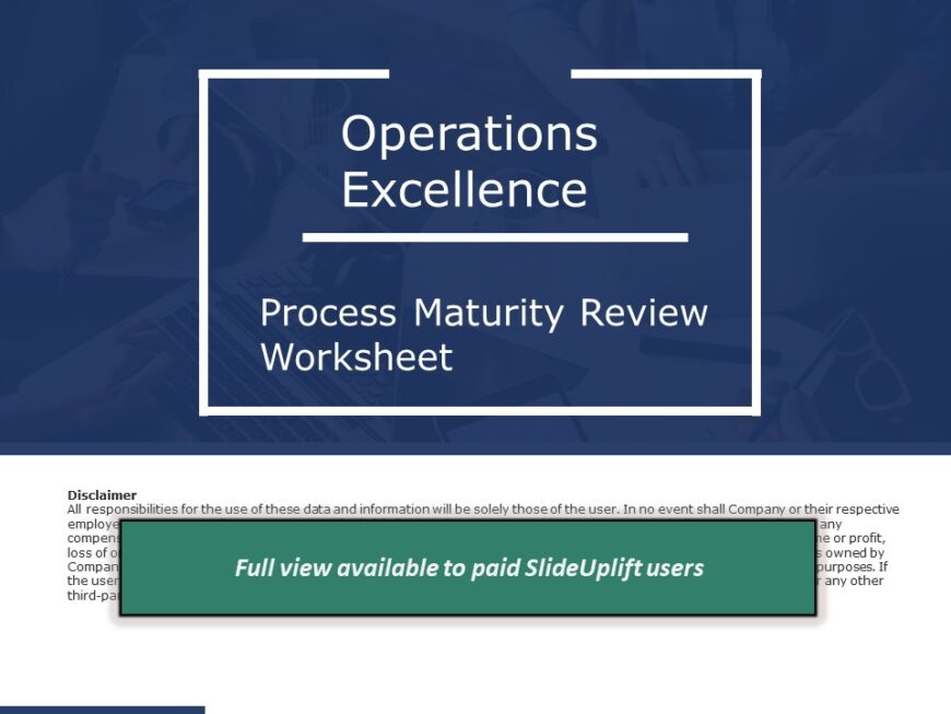 Process Improvement - Process Maturity Review