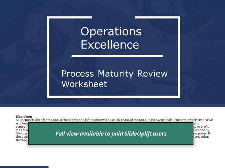 Process Improvement - Process Maturity Review