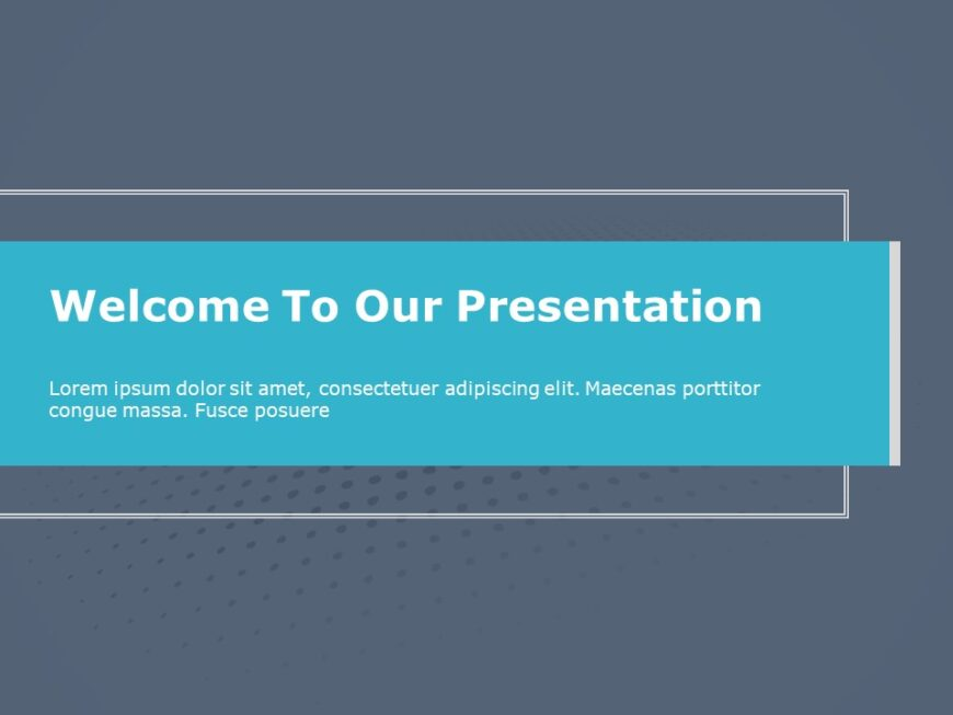 Welcome Slide PowerPoint