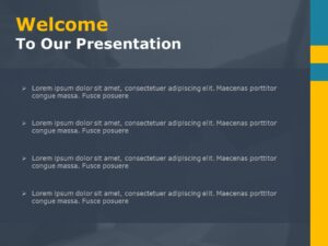 Welcome Slide in PPT