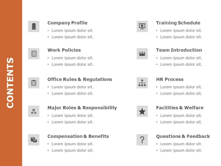 Table of Content Human Resource