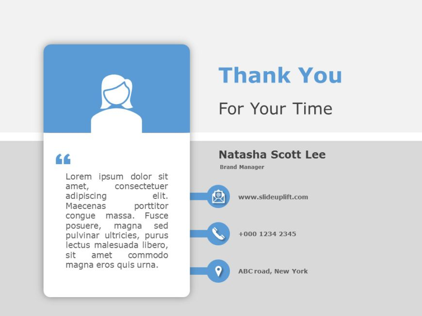 Thank You Contact Info