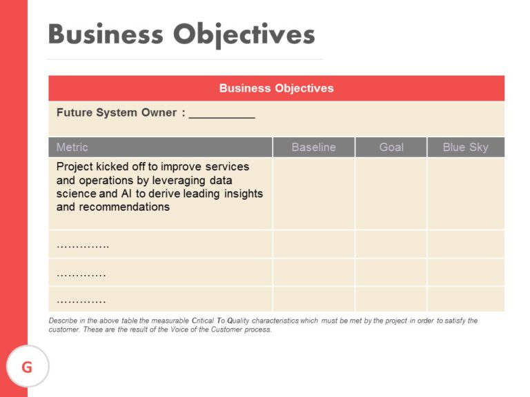 Business Objectives Template