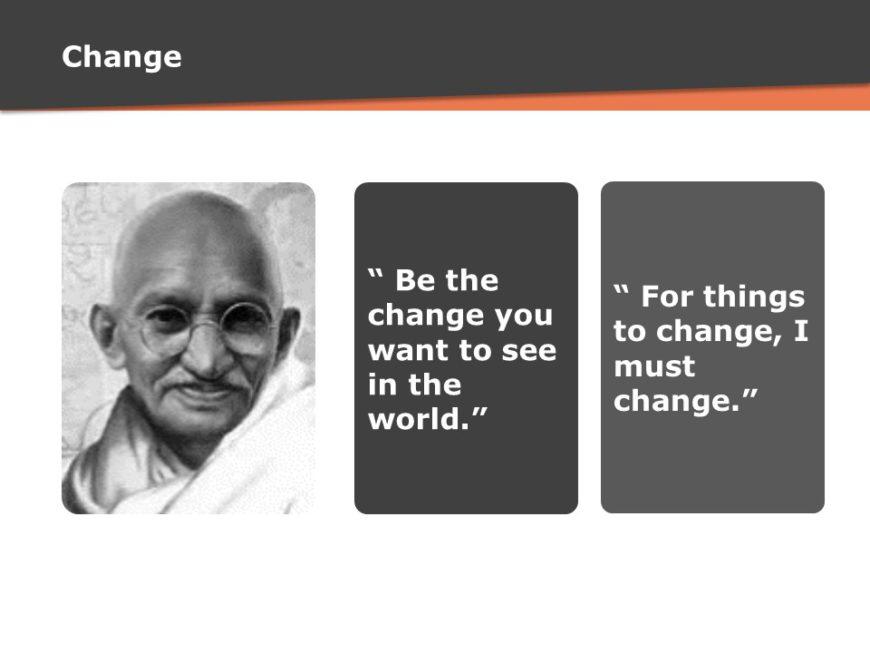 Quote on Change - Mahatma Gandhi