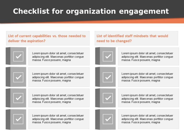 Checklist for Organization Engagement