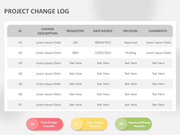 Project Change Log 02