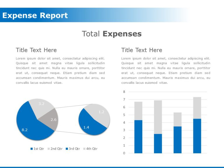 Total Expense Report