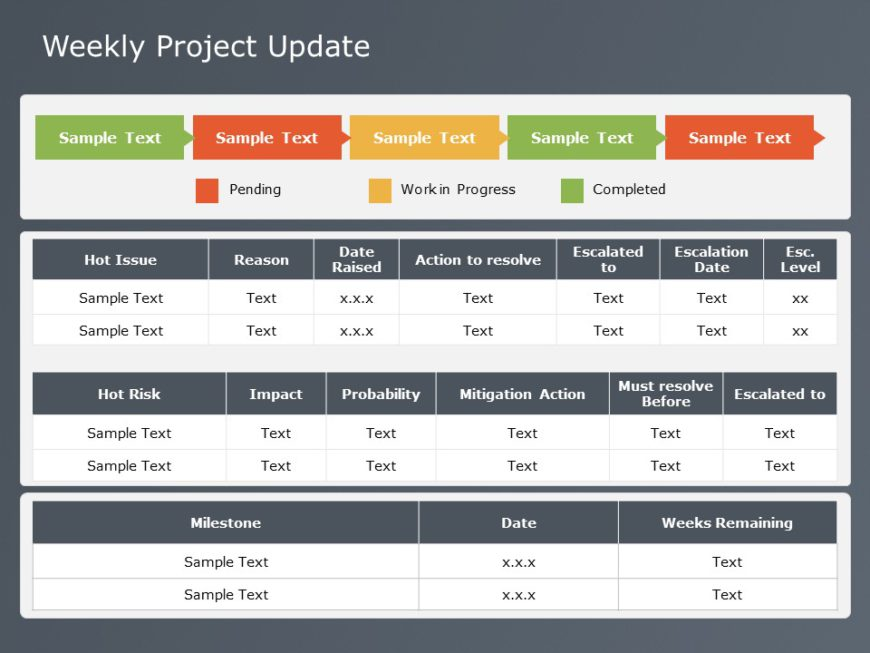 Weekly Project Status