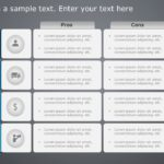 Animated 4 Box text and Tables PowerPoint Template