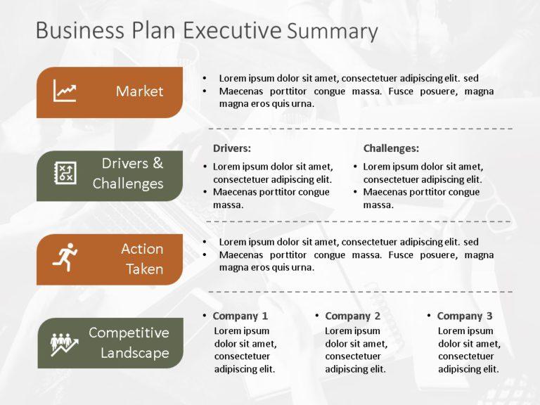 Animated Business Plan Executive Summary Template