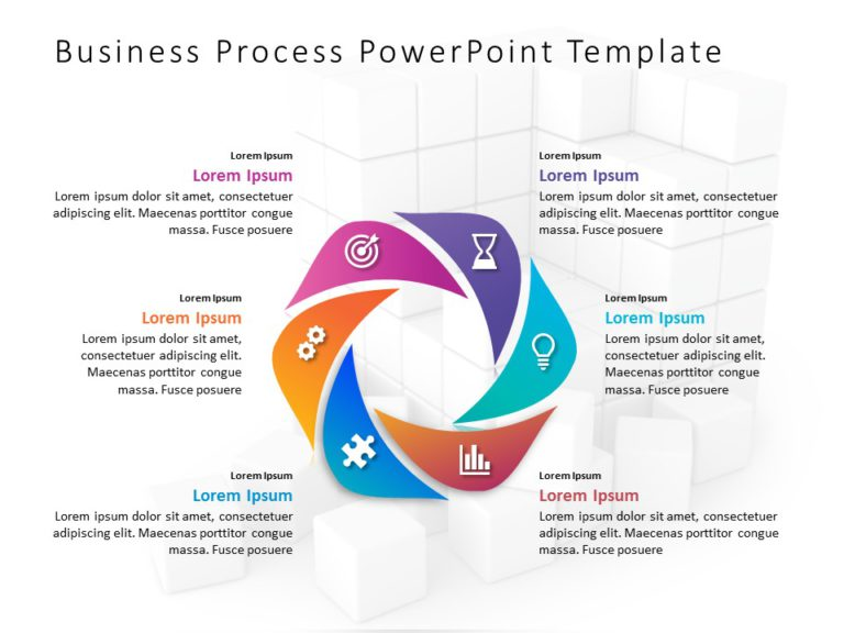 Animated Business Process PowerPoint Template 1