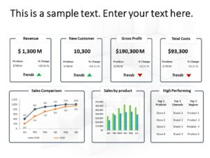 Animated Business Review Dashboard PowerPoint 3
