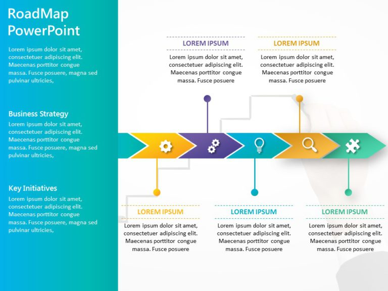 Animated Business Roadmap PowerPoint Template 13