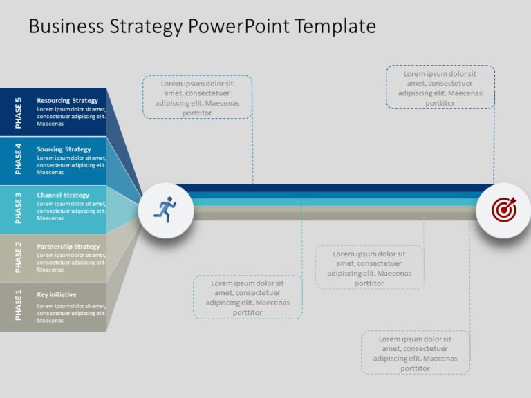 Animated Business Strategy PowerPoint Template 1