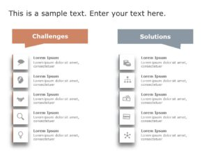 Animated Challenges and Solutions List PowerPoint