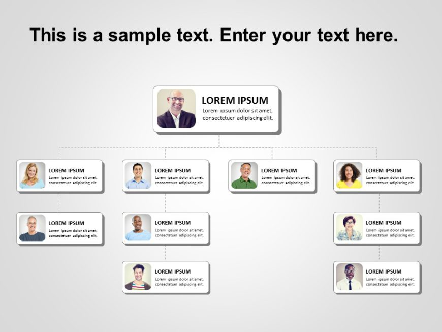 Animated Org Chart PowerPoint Template 13