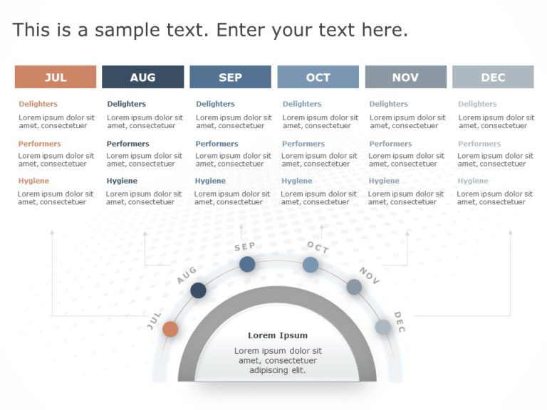 Animated Product RoadMap PowerPoint Template 10
