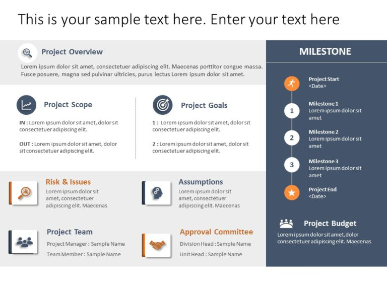Animated Project Charter Brief Template