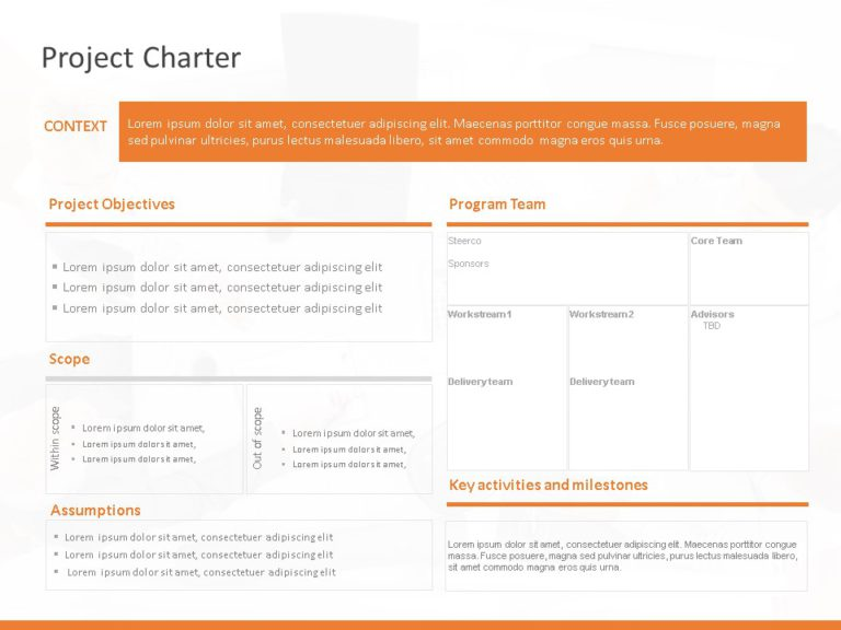 Animated Project Charter Summary Template