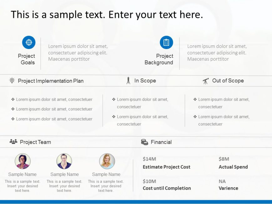 Animated Project Scope Summary Template