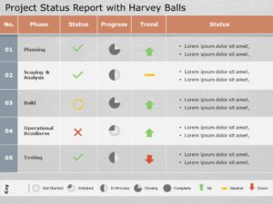 Animated Project Status Report Template