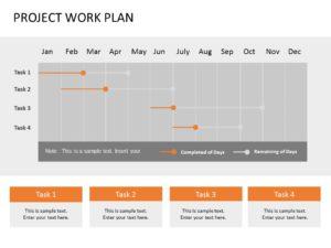 Animated Project Work Plan Gantt Chart
