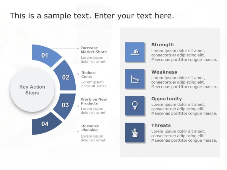Animated SWOT Analysis Detailed Template
