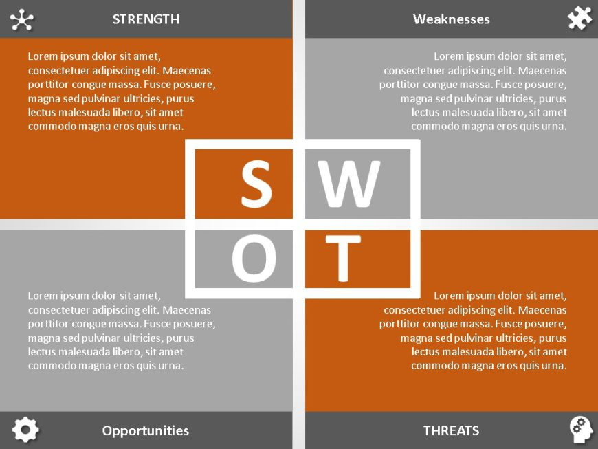 Animated SWOT Analysis PowerPoint Template 32