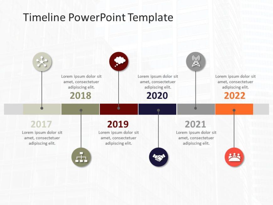 Animated Timeline PowerPoint Template 54