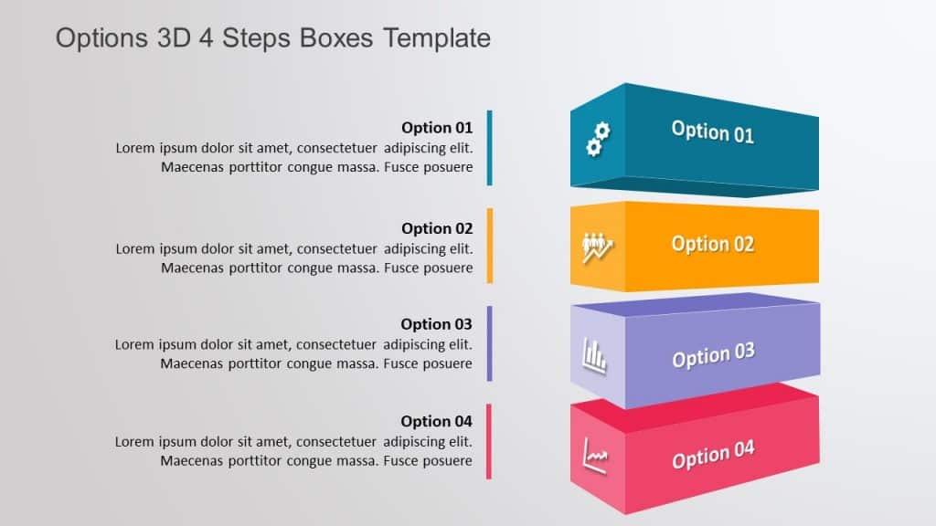 Free 3D Cuboid Shape PowerPoint Template