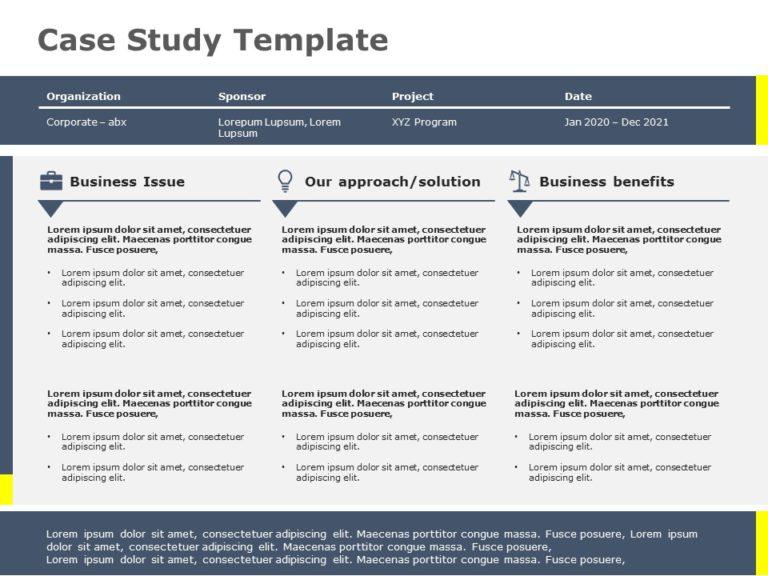 Case Study Template 10