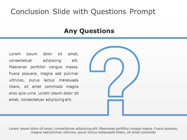 Conclusion Slide With Questions