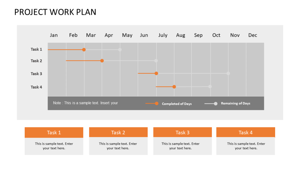 Project Management Gantt Chart Template