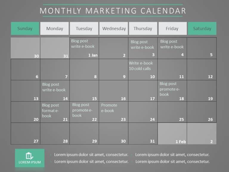 Marketing Calendar 07