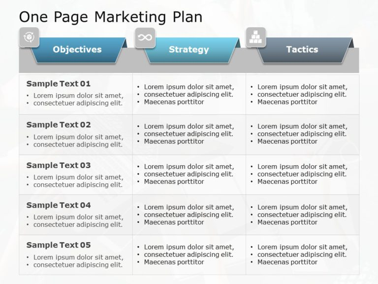 One Page Marketing Plan 01
